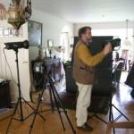 Henk Jan aan het fotograferen